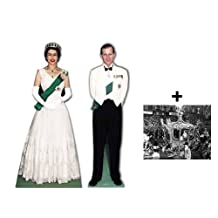 *COMMEMORATIVE DOUBLE PACK* - QUEEN ELIZABETH II AND PRINCE PHILIP - LIFESIZE CARDBOARD CUTOUT (STANDEE / STANDUP) SET - BRITISH DIAMOND JUBILEE 2012 - INCLUDES 8X10 (25X20CM) STAR PHOTO - FAN PACK #228