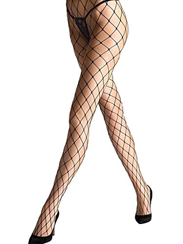 Black Diamond Fishnet Pantyhose - 8