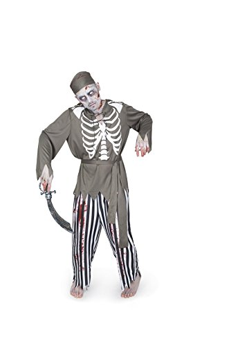 Karnival Men's Zombie Pirate Costume Set - Perfect for Halloween, Costume Party Accessory. Trick or Treating (M)