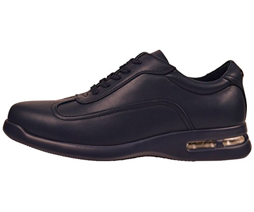 Sneaker Casual Sio Mens Bassa In Pizzo Con Scamiciato In Tinta Unita Color Fondo Ryan Navy