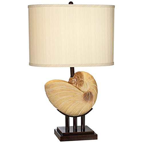 Pacific Coast Lighting 87-1241-62 Kaanapali Seashell 27-Inch Table Lamp with Pacific Beige (Tone Finish Table Lamps)