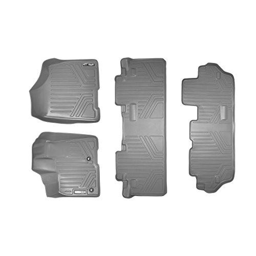 SMARTLINER Floor Mats 3 Row Liner Set Grey for 2013-2018 Toyota Sienna 8 Passenger Model Only