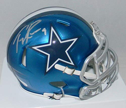 (Tony Romo Autographed Signed Memorabilia Dallas Cowboys Blaze Speed Mini Helmet - JSA Authentic)