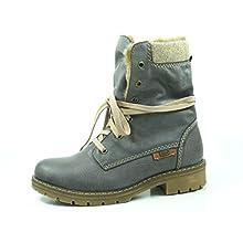 Rieker Y9122, Botines para Mujer, Gris (Basalt/Nuss/Wood/Steppe 45), 39 EU