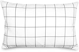 product image for Olli & Lime Small Grid Pillow in Black and White