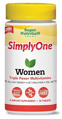 Super Nutrition SimplyOne Women Triple Power Multivitamin 30 Tablets
