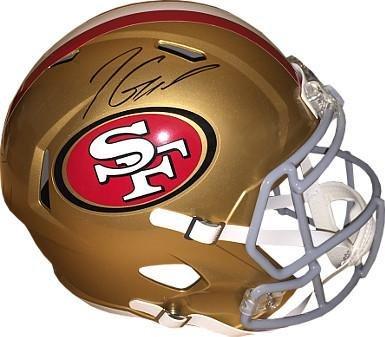 0112d4beb Autographed Jimmy Garoppolo Helmet - Riddell Speed Full Size Rep Steiner  Sports   Holograms - Tristar