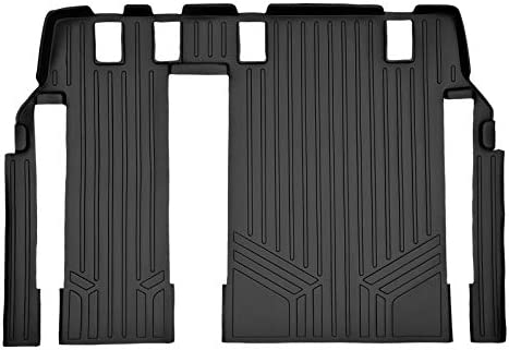 MAXLINER Floor Mats 3rd Row Liner Without 2nd Row Track Coverage Black for 2011-2018 Toyota Sienna 8 Passenger Model
