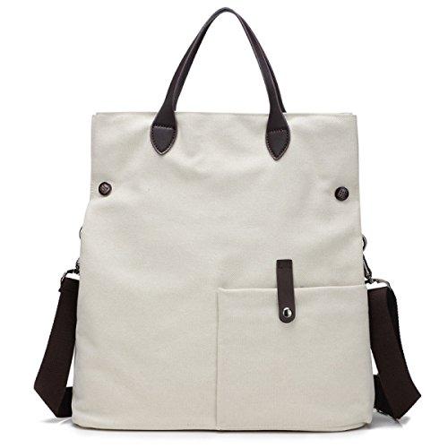 Frauen Vintage-Leinwand Messenger Ipad Schulter Handtasche Schule Multifunktional Tasche ,D-OneSize