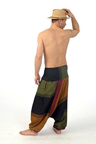 Sarouel Elastici Mahabharat Giallo Pantaloni Unisex Teufer ZHxw66q