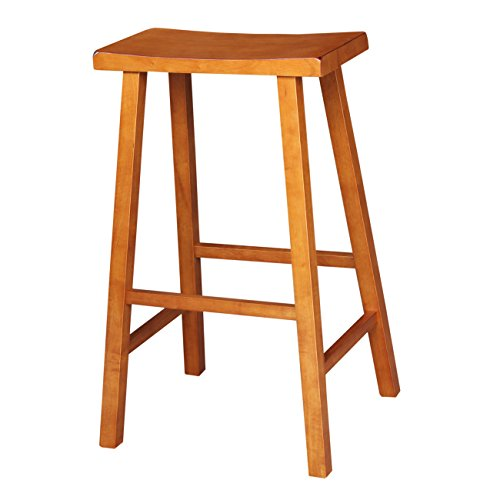 International Concepts Saddle (International Concepts 1S43-682 24-Inch Saddle Seat Barstool, Rustic Oak)