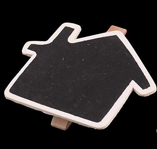 Gelaiken Cloud Shaped Memo Card Clips Mini Chalkboard Peg Clip Name Holder_Black 3
