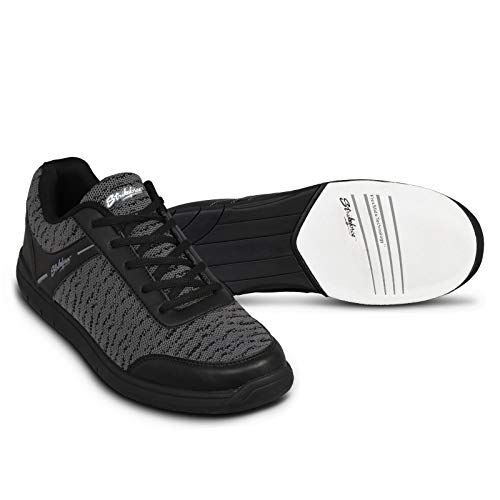 KR Strikeforce Men's Flyer Mesh Bowling Shoes, Black/Steel, Size 11