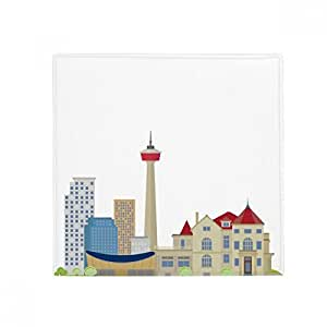 Canada Landmark and City TV Tower - Alfombrilla antideslizante para mascota, cuadrada, para baño, sala de estar, cocina, puerta, 60/50 cm, regalo