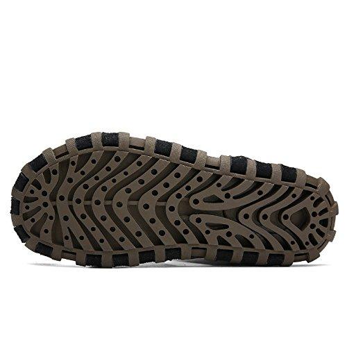 Hand zu bauen Echtleder Männer Sandalen Strand Schuh Umweltschutz Dualer Gebrauch Sandalen ,braun,US=8,UK=7.5,EU=41 1/3,CN=42