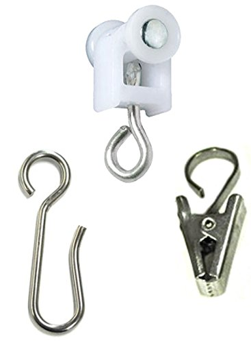 ceiling-curtain-track-set-with-wheeled-carriers-hooks-and-pinch-clips-1-10-pack-carriers