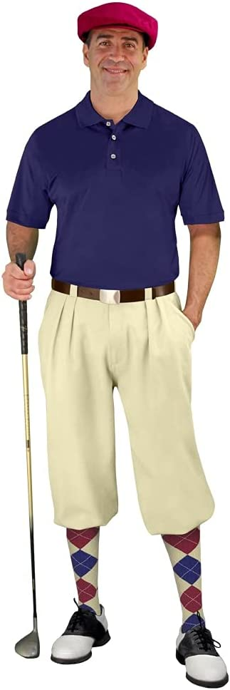 Golf Knickers Mens Start-in-Style Outfit - Natrual