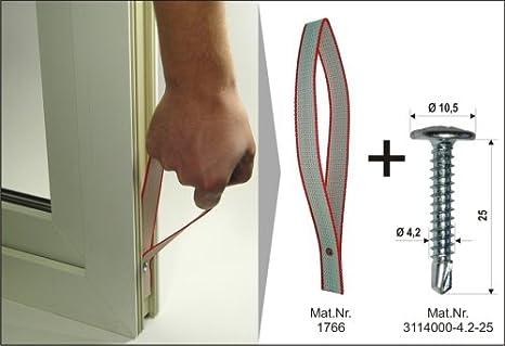 Fenstertrageschlaufe 500 ST Tragehilfe mit vorgesteckter Bohrschraube 4.2 x 25 mm