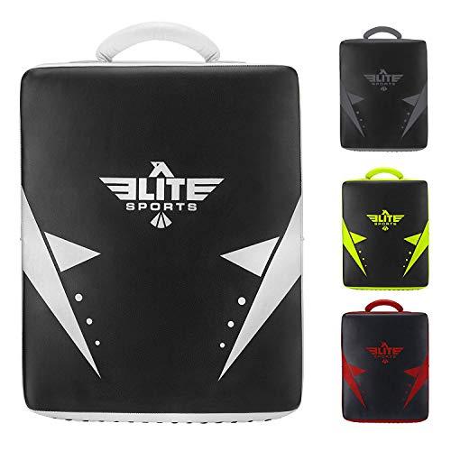 Elite Sports Kickboxing Muay Thai MMA Training Kick Punch Strike Shield Big Pad (Black)