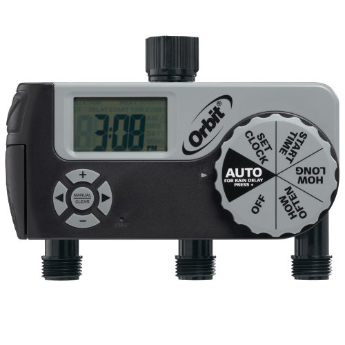 Orbit 56233D 3-Outlet Digital Watering Timer (1 Manual/2 ...