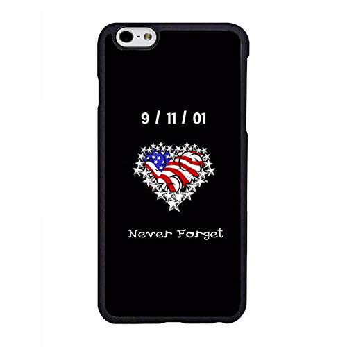FIDIKO Never Forget 9/11 Protective Case Compatible iPhone 6s Plus, Cute US Flag Heart Hard Plastic Rugged | Anti Scratch Hard Back Compatible iPhone 6 Plus/iPhone 6s -