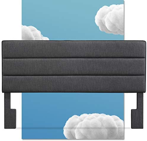 Serta Palisades Collection Upholstered Padded Headboard Modern Tufted Design