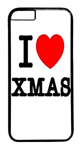 ACESR I Love Xmas iPhone 6 Hard Case PC - Black, Back Cover Case for Apple iPhone 6(4.7 inch)