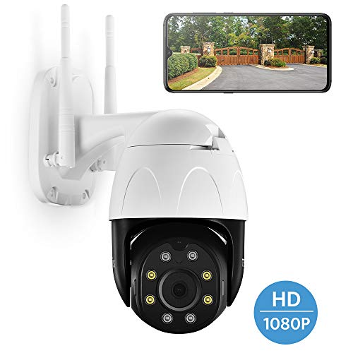 🥇 TENVIS PTZ 1080P Outdoor Security Camera