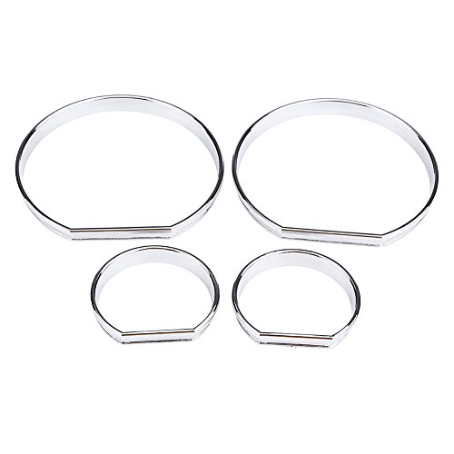 Gauge Decoration Frames, 4pcs Car Front Dashboard Speedometer Gauge Decoration Frame Dial Rings Trim for BM W E46: