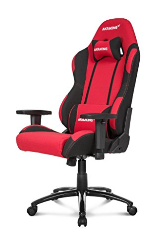 AKRacing Core Series EX-Wide Gaming Chair with Wide Seat, High and Wide Backrest, Recliner, Swivel, Tilt, Rocker and Seat Height Adjustment Mechanisms with 5/10 warranty - Red/Black
