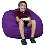 FUGU Kids Beanbag Chair, Premium Foam Filled 2', Protective Liner Plus Removable Machine Wash, Purple
