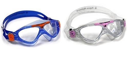 Aqua Sphere Vista Junior 2 Pack Swim Goggles (Aqua Sphere Seal Kid Swim Goggle)