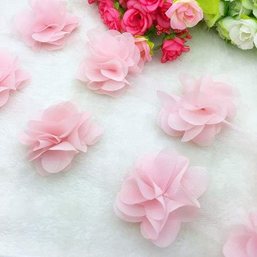 13pcs/1 Yard Flower Chiffon Wedding Dress Bridal Fabric Lace Trim (Pick Item - ()