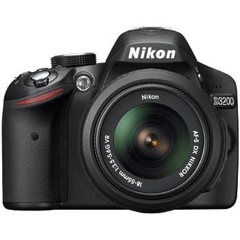Nikon D3200 24.2 MP CMOS Digital SLR with 18-55mm f/3.5-5.6 Auto Focus-S DX VR NIKKOR Zoom Lens (Black) (OLD MODEL)