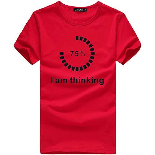Koolsants Men T-Shirts Mens Short Sleeve T Shirt Printing Tees Shirt Short Sleeve T Shirt Blouse -