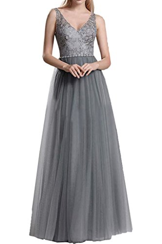 Victory Bridal - Robe - Trapèze - Femme -  gris - 50