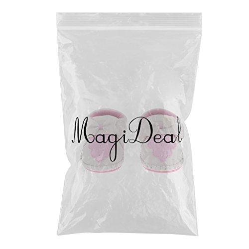 MagiDeal Auto/Bowknot Weiches PU-Leder Lauflernschuhe Krabbelschuhe Babyschuhe Jungen Mädchen Geschenk - Weißer Bowknot, 13cm