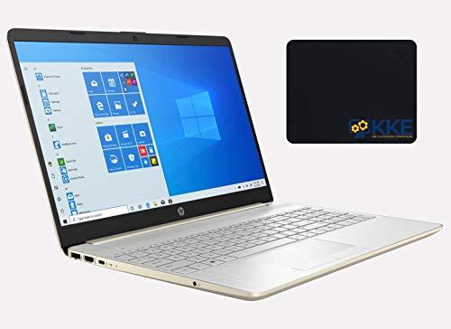 "2020 Newest HP 15.6"" HD Non-Touchscreen Laptop, 10th Gen Intel Core i5-1035G1 Processor, Wi-Fi, Online Class, Zoom Meeting, Windows 10 Home, KKE Mousepad, Gold (8GB RAM | 128GB SSD + 1TB HDD)"