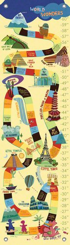 Oopsy Daisy, Fine Art For Kids PE2946 Growth Chart World Wonders Growth ()