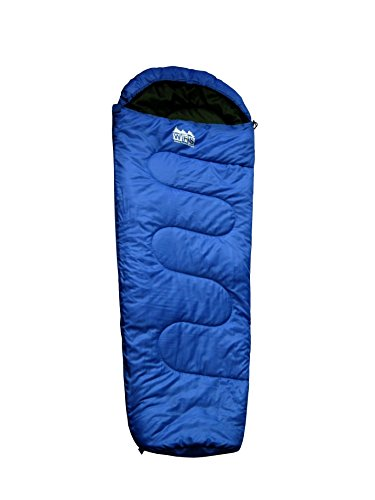 World Famous Sports 50 Degree Mummy Youth Sleeping Bag, Blue, 56 x 28 x 2