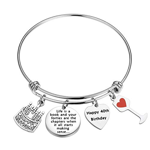 FSTYLE Happy Birthday Keychain Gift 13th 16th 18th 30th 51th Charms Key Ring Best Friends Family Jewelry