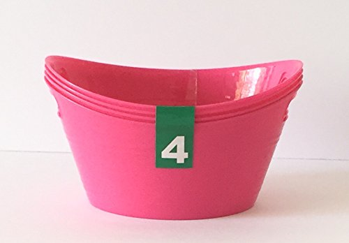 Greenbrier Int. Mini Storage Containers- Oval Shaped- Fuchsia- Pack of 4