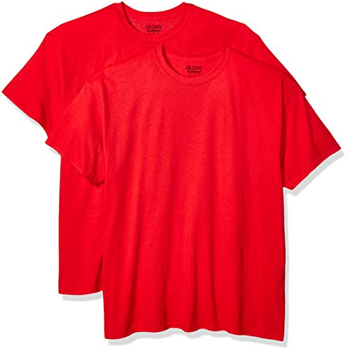 Gildan Men's DryBlend Adult T-Shirt, 2-Pack, Red, X-Large