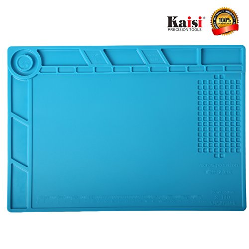 Magnetic Heat Insulation Silicone Mat Screw Tray Maintenance Platform Soldering Repair Station Kit for Soldering Iron, Smart Phone, Computer and Other Devices Repair by Kaisi S-140