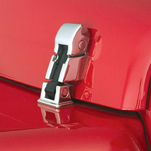 RAMPAGE PRODUCTS 74334 Polished Cast Stainless Steel Rock Runner Hood Catch Kit for 1997-2006 Jeep Wrangler TJ - - Hood Stainless Kit Steel