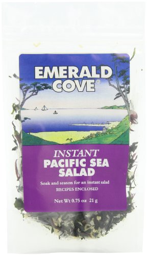 Emerald Cove Instant Pacific Sea Salad (Six Varieties of Sea Vegetables), 0.75 Ounce Bag