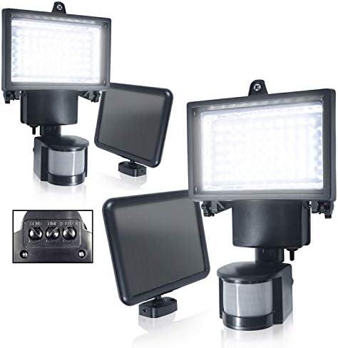 2PACK eTopLighting LED PIR Motion Sensor Outdoor Flood Light Security Porch Garage Backyard, APL1976