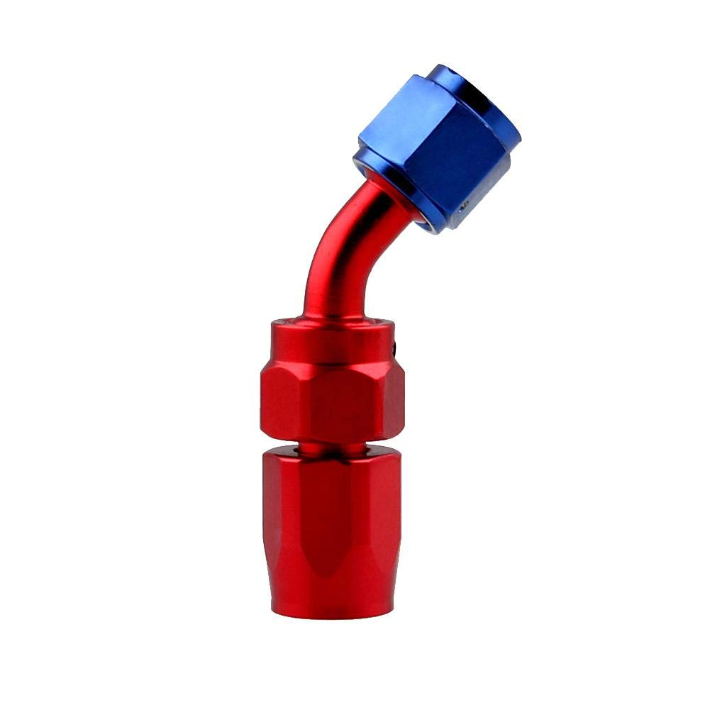 YouN AN8 Aluminum Swivel Hose End Fitting Adapter for Oil Fuel Line (45 Degree)