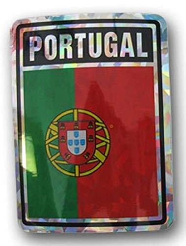 ALBATROS (Pack of 12) Portugal Country Flag Reflective Decal Bumper Sticker for Home and Parades, Official Party, All Weather Indoors Outdoors