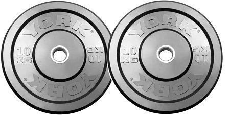 Cheap York Barbell 28083 York Usa 10 Kg Training Bumper, Black